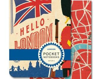 London Pocket Notebook Set of 2 mini notebooks