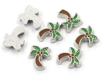 Palm Trees Floating Charm for Glass Memory Locket FC14 - 1 Charm