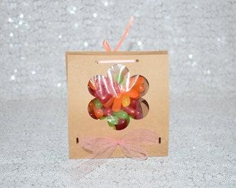 Candy Favor Bag, Flower Kraft Bag,