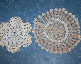 Two Sweet Little Crochet Doilies