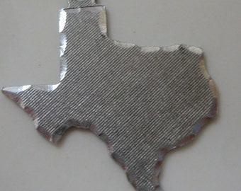 Large Vintage Texas Charm Sterling Silver Figural TEXAS State Charm Pendant for Charm Bracelet or Necklace