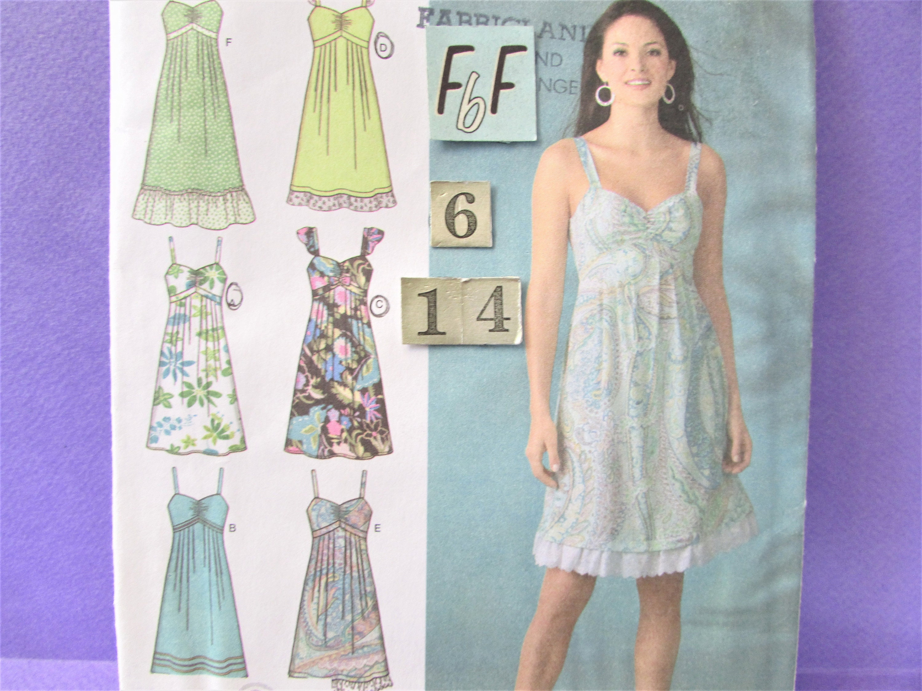 Spaghetti Strap, Ruffled SunDress Sewing Pattern/ Simplicity 4119 ...