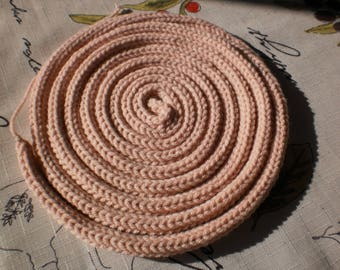 pink color knitting