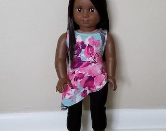 Asymmetrical Top for 18 inch dolls such as American Girl Dolls