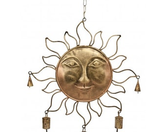 Big beautiful sun with bells wind chimes