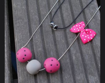 "necklace ""the vie en rose"""