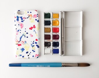 Watercolour Doodles phone case / watercolour iPhone X, iPhone 8, 8 Plus, iPhone 7, iPhone 6s, 6, iPhone 5/5S, Se, Samsung Galaxy S7, S6, S5