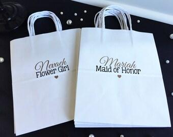 Bridal Party Gift Bag, Bridesmaid Gift, Wedding Party Gift, Thank You Gift Bag, Bridesmaid Gift Bag, bridesmaid gift, flower girl, gift bag