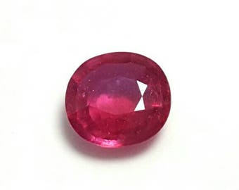 Natural Purpulish Red ruby 6.10 ct from Mozambique