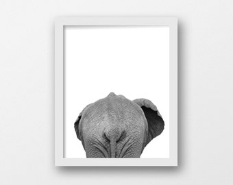 Elephant Decor, Elephant Nursery, Elephant Butt, Animal Print, Safari Wall Art, Africa Print, Zoo Animal, Zoo Print, Most Sold, Top Seller
