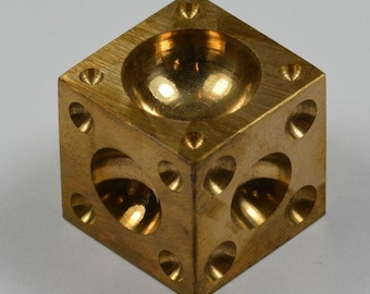"2"" Solid Brass Doming Dapping Block jewellery craft making jewellers shaping"