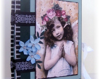 Scrapbook, Art Journal, Photo Album, Smash Book, Vintage Angel