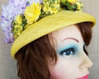 Vintage Women's Floral Spring Hat