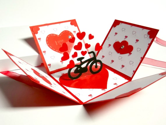 Love Exploding Box Card Valentine S Day Explosion Box