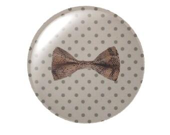 Set of 2 Ribbon round 30mm glass cabochons