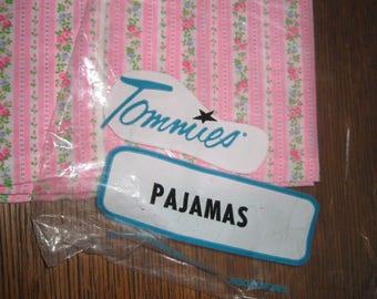 Vintage 1960's woman's New Old Stock lightweight TOMMIES Pajamas NIP PINK sz 38