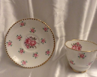 Royal Stafford Tudor rose tea cup and saucer
