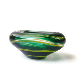 Mid Century Art Glass Vase by Floris Meydam for Leerdam