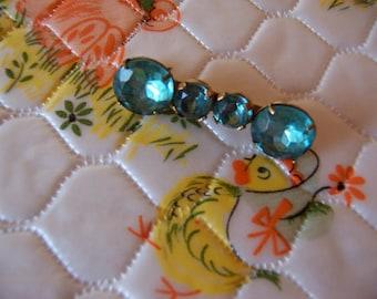 beautiful teal stone pin