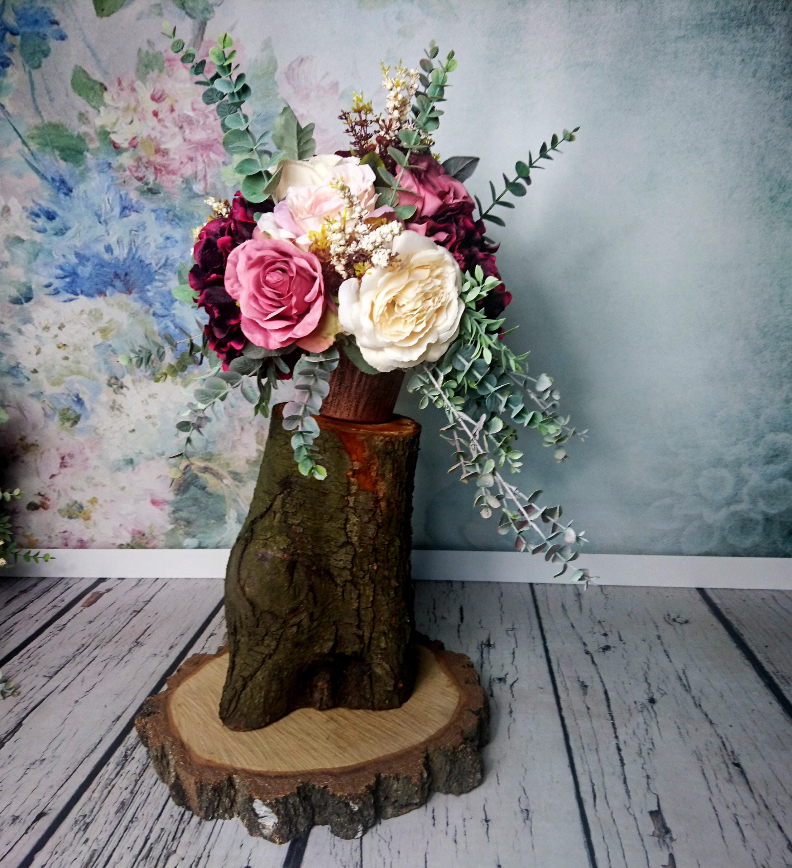 Vintage Flower Arrangements For Wedding: Wedding Floral Arrangement Vintage Fall Wedding Burgundy Blush