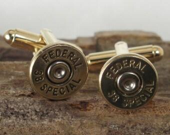 Bullet  Cufflinks  -  38 SPL - Ultra Thin