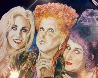 The Sanderson Sisters - Original Colored Pencil Drawing