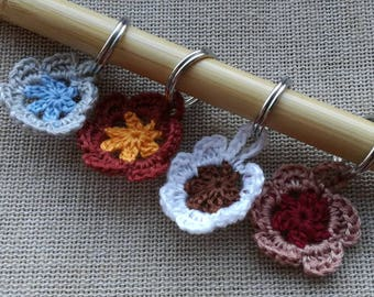 Stitch Markers, Stitch Markers for Knitting, Stitch Markers for Crochet, Ring or Clasp, Crochet flowers, Crochet Notions, Knitting Notions