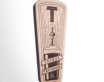 Engraved Custom Beer Tap Handle - Golding