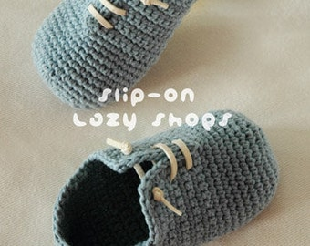 Slip-On Toddler Lazy Chaussures Taille 3, 4, 6, 7, 8, 9 - Crochet Pattern-Chart & Pattern écrite