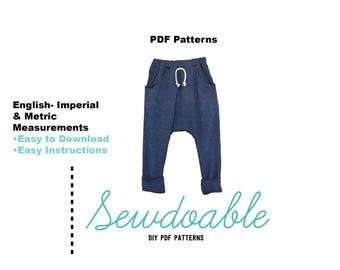 Jogger Pant PDF Pattern 3/6M- 6Y
