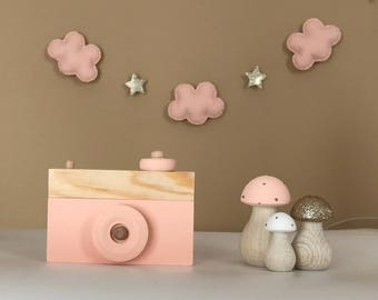 Baby Girl Baby Shower Gift - Pink & Gold Kids Room Decor - Wooden Nursery Decor - Blush Pink Nursery - New Baby Gift - Nursery Decor Set