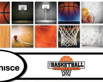 Basketball Paper The Basketball Collection Scrapbook Papers and Stickers - Individual or Set 12x12