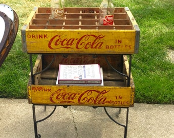 Refabbed End Table with Coca-Cola Crates