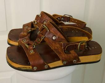 Vintage 1960's 70's Thom McCan Men's Sand Rover Leather Sandals