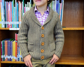 make your own Library Cardigan (DIGITAL KNITTING PATTERN) baby toddler child tween teen