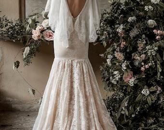 Mermaid wedding dress, trumpet wedding dress, mermaid wedding gown, mermaid bridal gown, lace wedding dress, lace wedding gown