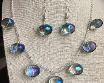 Iridescent Bubble Necklace