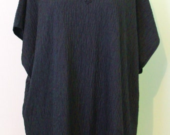 Black Tunic with Flower Embroidered Chest