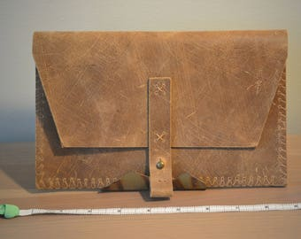 Distressed Leather Clutch / Wallet - C