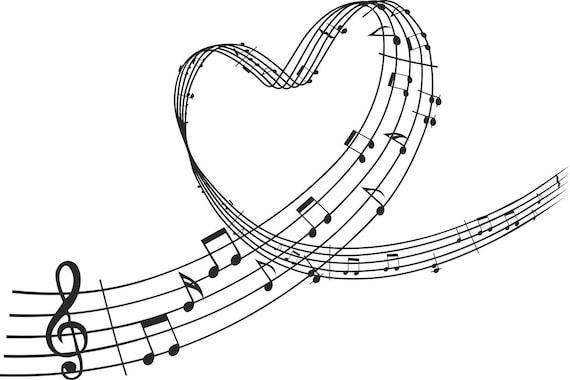 violinschlüssel herz noten grafiken svg dxf eps png cdr ai pdf