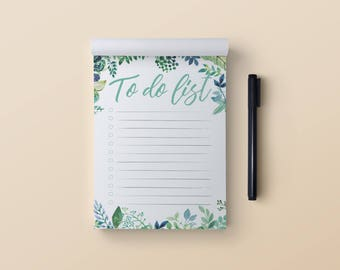 To-do list notepad A6. Floral to do list. Daily to-do list notepad. Let's do it notepad. Small size to do list notebook. To-do list pad A6