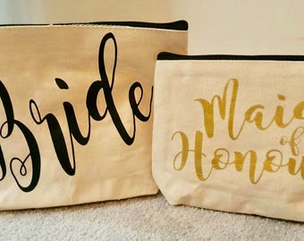 Bridal Party Cosmetic Bags