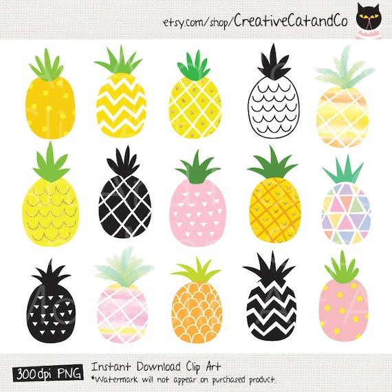 Pineapple Clipart Pineapple Clip Art Cute Gold Pineapple