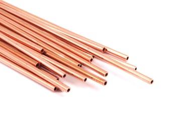 Himmeli Copper Tubes - 20 Raw Copper Tube Beads (2x130mm) D334