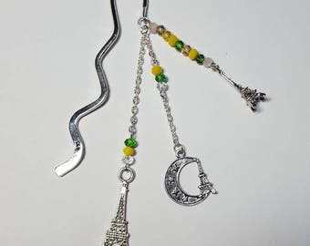"""Small bookmark """"Tour Eiffel"""" yellow and green"""