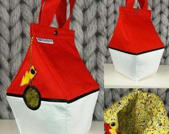 Pokémon Birdhouse shaped project bag for knitting or crochet