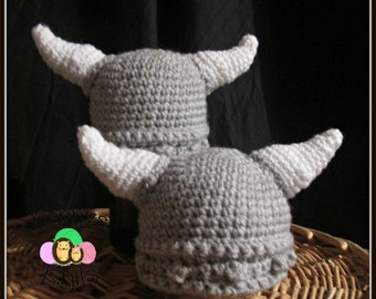 baby Viking hats 0-3 & 3-6 months only Made to order!