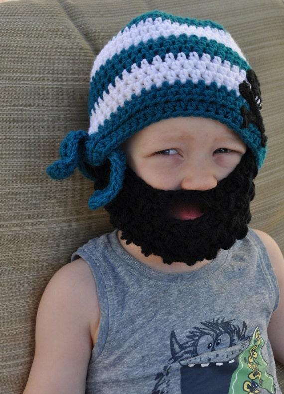 Crochet el sombrero de barba hueso pirata cráneo y la Cruz de