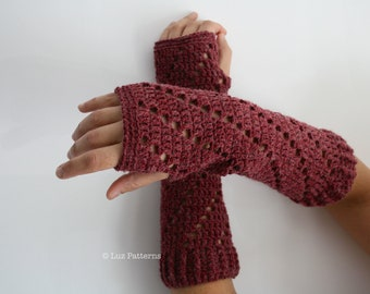 Crochet pattern, Instant Download crochet arm warmer pattern, wrist warmer crochet pattern, fingerless glove pattern (113)