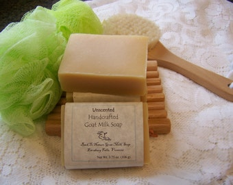 Set of 3 Pure & Natural Goat Milk Soap, scent free